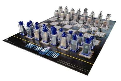 Time Travel Strategy Games - The Doctor Who Lenticular Animated Chess Set Features 3D Pieces