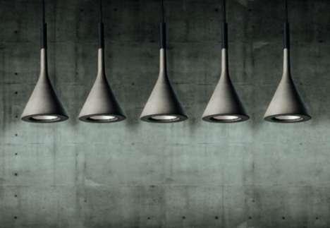 Poured Concrete Pendant Lamps