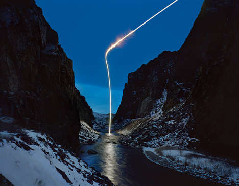 Flare-Illuminated Mountainscapes