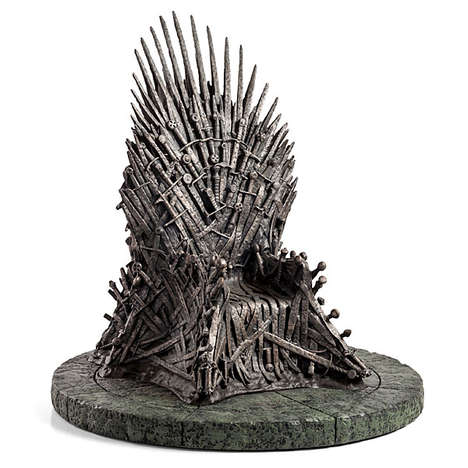 Iconic Fantasy Furniture Replicas - This Game of Thrones Statue is a Fine Replica of the Iron Throne