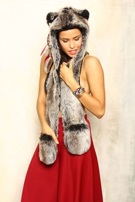 Faux Fur Wolf Hoods
