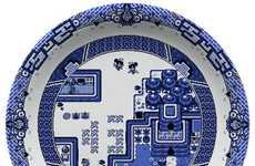 Gamer-Designed Dinnerware - These Plate Designs by Olly Moss Mimic Game Sequences from Pokemon