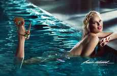 Glamorous Poolside Shoe Campaigns