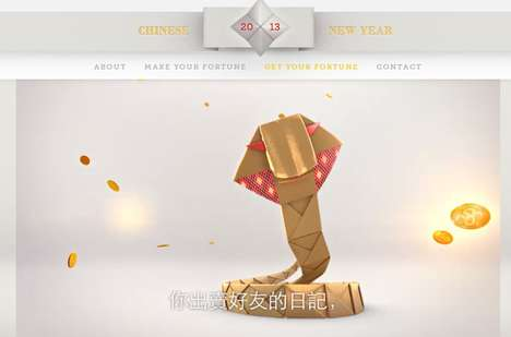 'Happy Year of' is a Celebratory Chinese New Year Website