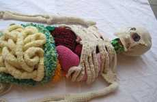 Knit Anatomical Art - This Knit by Shanell Papp is an Accurate Representation of the Human Form
