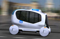 Convertible Autonomous Cabs - Taxi BP is Designed for Budapest in the Year 2046