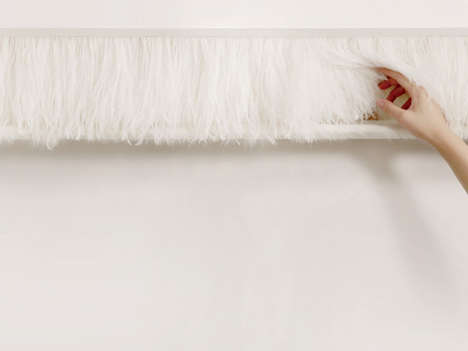 Whimsical Fur-Curtained Cabinets