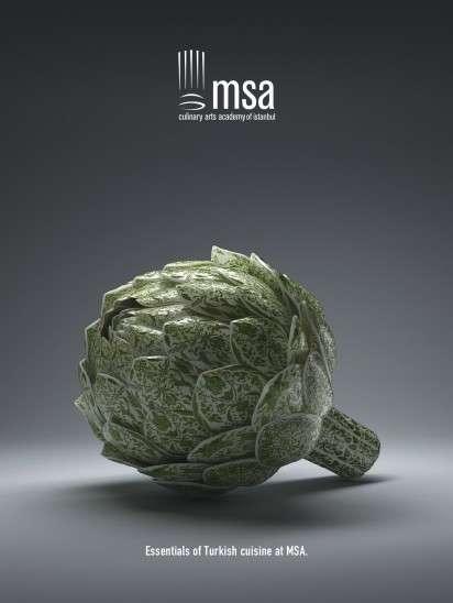 Artistic Veggie Ads