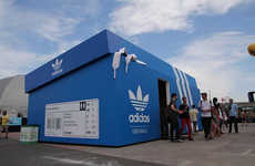 Shoe Box Structures - The adidas Originals Popup Shop is Made for a Sneaker-Loving Giant