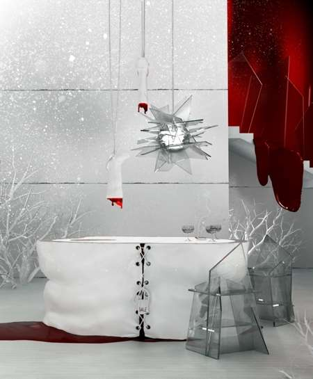 Human Blood-Inspired Interiors - Masarnia is Whimsical and Macabre Work by Karina Wiciak