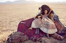 Couture Caravan Captures - The Vogue Australia Editorial Stars a Performing Liu Wen