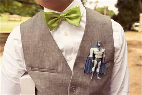 Geeky Superhero Boutonnieres