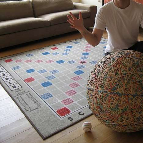 The Giant Scrabble Rug Gets Wordplay Fanatics on Board at All Times