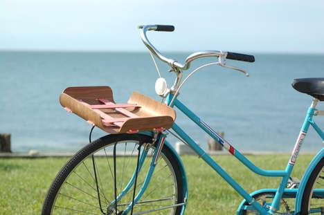 Strap-Embedded Bike Baskets