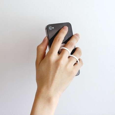 Finger-Gripping Phone Holders