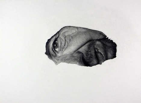 Creepily Fragmented Facial Portraits