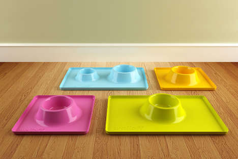 Modular Animal Meal Trays - The Walloff Pet Bowl Promotes More Civilized Manners from Your Pooch