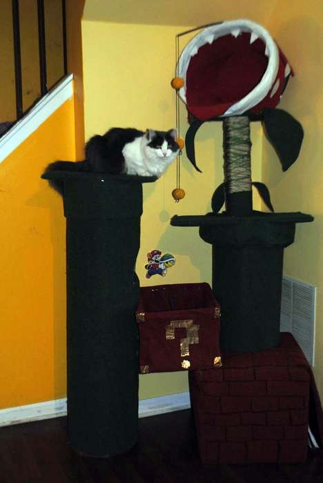 This Cat Tree by Geckoo_Design is Inspired by a Mario Environment