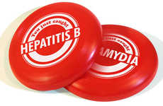 Health Educational Flying Discs - This Frisbee by Matt Wiley Doubles as STD Awareness