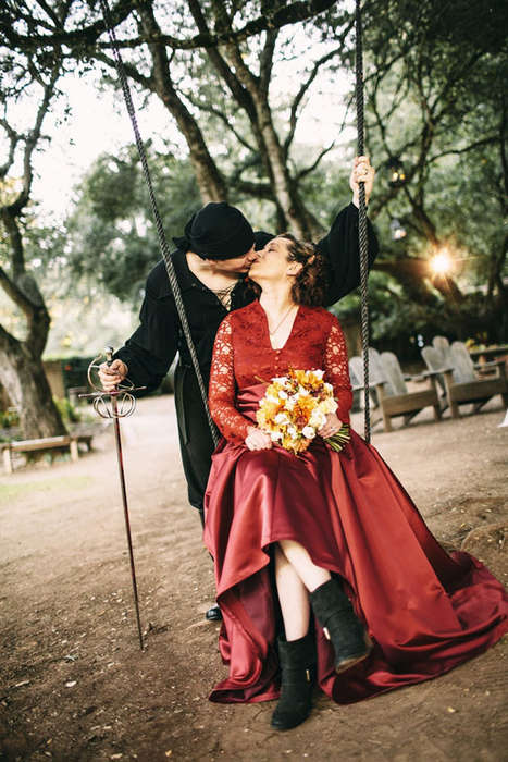 Fantasy Novel-Themed Weddings - This Adorable Couple Ties the Knot in Perfect Princess Bride Wedding
