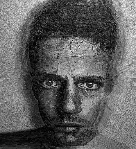 Shredded Poetry Portraits
