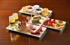 Fashion-Themed Tea Platters - Mandarin Bar is Offering Jimmy Choo Tea Platters Featuring His Work