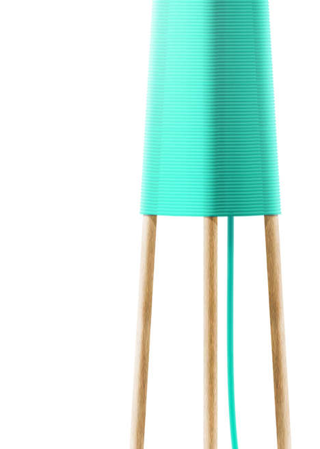 Yarn-Inspired Lamps