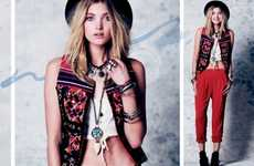 Eclectic Hippie Fashions - The Free People February Lookbook Maintains Its Classic Aesthetic