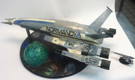 Sweet Sci-Fi Gaming Ships - The Mass Effect Cake is Perfect for Fans of Commander Shepard