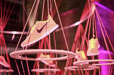 Shoe Brand-Inspired Exhibits (UPDATE) - The Flyknit Collective Features Art Inspired by Nike Shoes