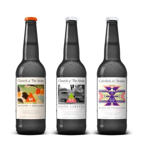 Pop Culture Beer Branding - These Cool Beer Bottles are from Swedens Church of the Atom