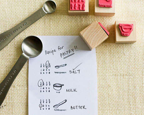 Custom Cooking Instruction Stamps
