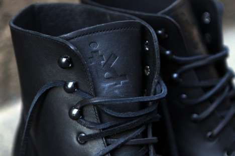 Chic Leather Soldier Boots - These Ronnie Fieg Boots are a Collaboration with Caminando
