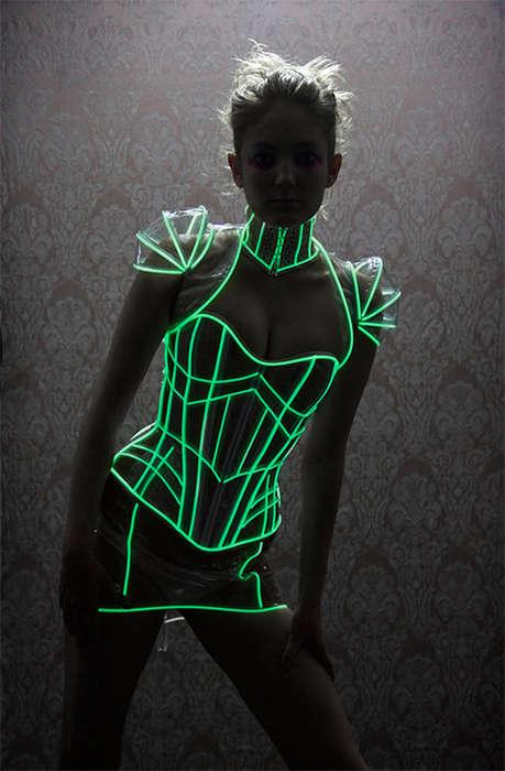 Futuristically Illuminated Undergarments