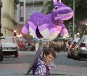 Giant Purple Pinata Ads