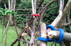 Funky Fort Building Aids - Stick-Lets by Christina Kazakia Make Building From Sticks a Breeze