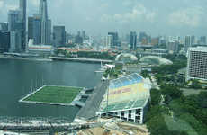 Massive Floating Stages - This Stadium/Pitch in Singapore is the World's Biggest Floating Stage