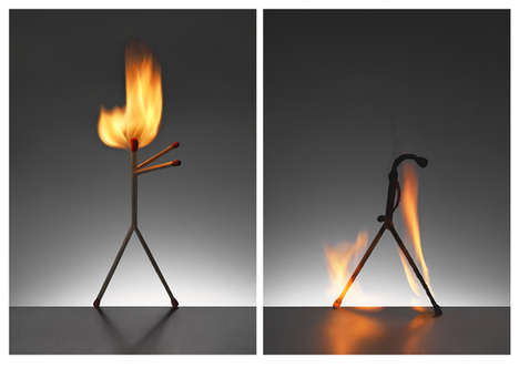 Personified Burning Matches
