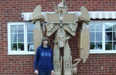 Eco-Friendly Autobot Models - The Cardboard Optimus Prime Stands Ten Feet Tall and is Recyclable