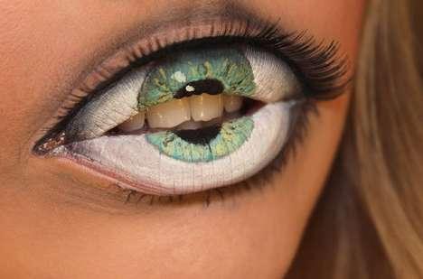 Optical Illusion Lip Art