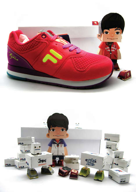 Sportswear Brand Fila Launches a Paper Made Toy Store in Japan