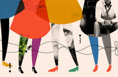 Fragmented Girly Collages - Anna Kovecses Illustrations are Delightfully Whimsical and Girly