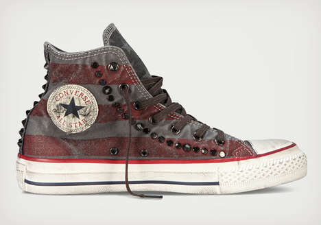 Cleverly Antiqued Kicks - This Well Worn Chuck Taylor Collection Already Carry That Used Look