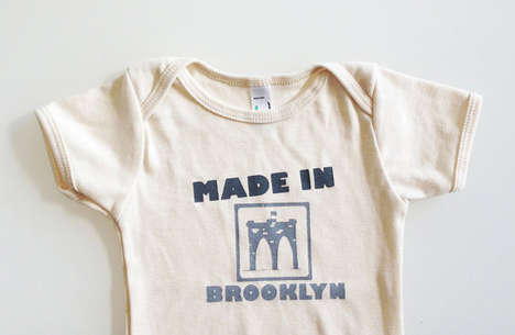 Baby Birthplace Bodysuits - These Clothing Creations By Eggagogo Proudly Declare a Baby's Hometown