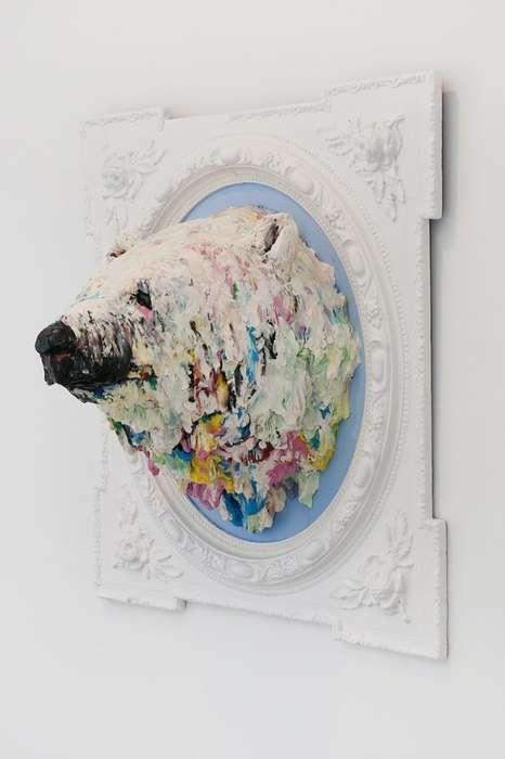 Spackled Polar Bear Art