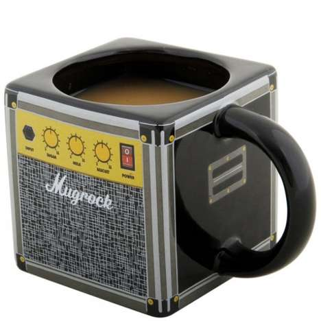 Speaker-Inspired Coffee Cups