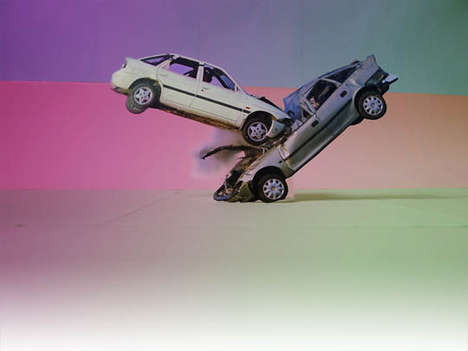 Colorful Car Collision Captures