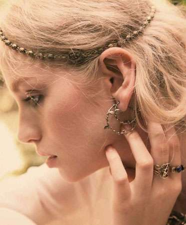 Delicately Beaded Headpieces