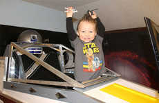 Sci-Fi Spacecraft Bunks - A Father Revamps Son's Bed with an Awesome X-Wing Design