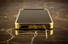 Solid Gold Phone Covers - The Brikk Haven iPhone Case Offers Users Luxurious Tech Cases
